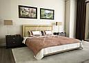 Ліжко двоспальне з мякою спинкою спальню Софі без підйомного механізму Lefort