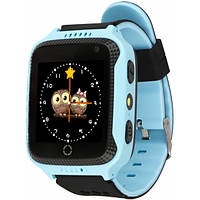 Детские умные GPS часы с фронтальной камерой и  LED-фонариком Smart Watch Q529 Original Blue