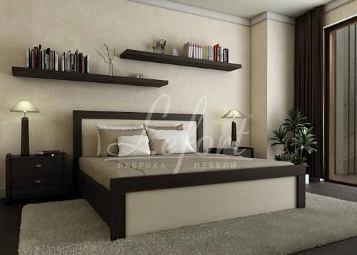 Ліжко двоспальне з мякою спинкою спальню Марго  Lefort