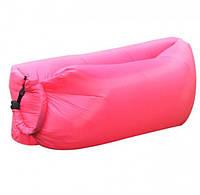 Надувной гамак,двойной мешок для отдыха на природе Intec Розовый