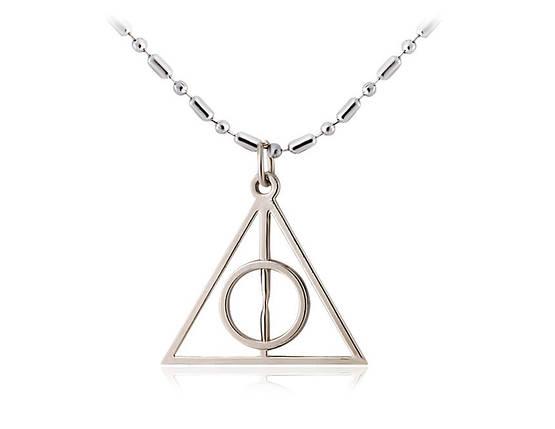 Ожерелье Треугольник Гарри Поттера с покрытием серебра!, фото 2