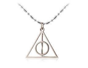 Ожерелье Треугольник Гарри Поттера с покрытием серебра!