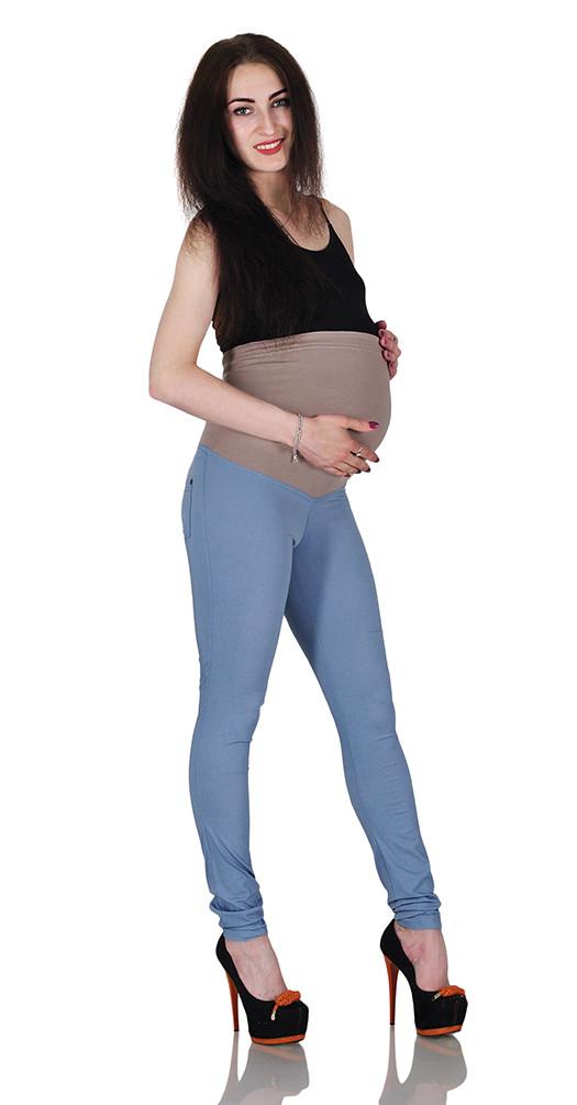 Серые леггинсы для беременных под джинс на лето