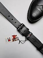 Черный кожаный универсальный ремень мужской, томми реплика