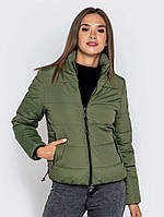 Женская короткая осенняя/весенняя куртка без капюшона