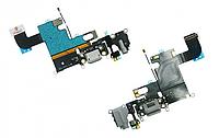 """Шлейф Apple iPhone 6 (4,7"""")(+Charge/Microphone/Head) Grey"""