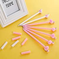 Набор дизайнерских  гелевых ручек для письма  Flamingo Фламинго Розовый 6 шт