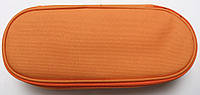 Пенал сумочка школьный для девочек (1 отдел ) для хранение ручек и карандашей,оранжевый Kidis