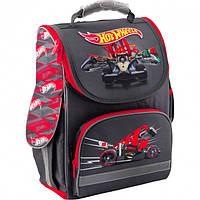 Рюкзак школьный трансформер Ортопедический  Kite Education Hot Wheels для мальчиков Темно-серый
