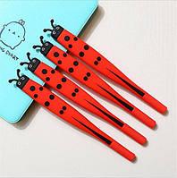"""Набор дизайнерских гелевых ручек для письма Small Point """" Божья коровка"""" Kawaii 4 шт"""