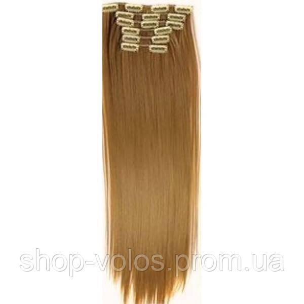 Накладные волосы на заколках термо  Набор тресс 7 шт № 27 рыжий