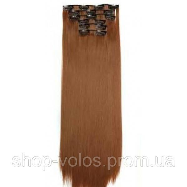Накладные волосы на заколках термо  Набор тресс 7 шт № 30 рыжий
