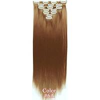 Накладные волосы на заколках термо  Набор тресс 7 шт № 6A светло-русый, фото 1