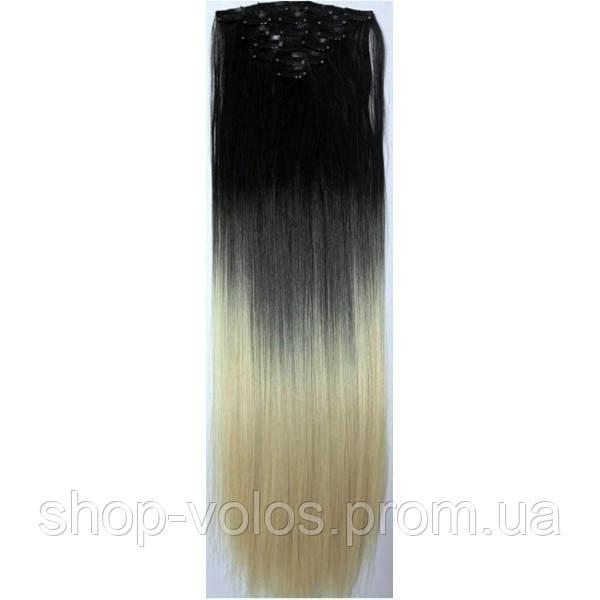Накладные волосы на заколках термо Набор тресс 7 шт № 1т24