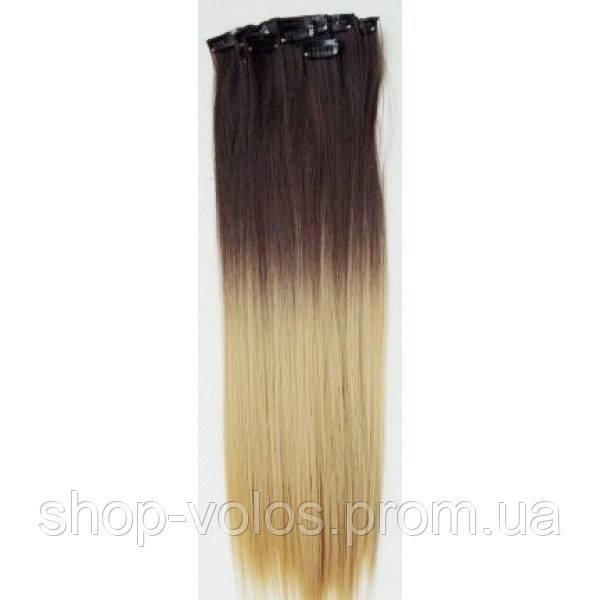 Накладные волосы на заколках термо Набор тресс 7 шт № 4т24