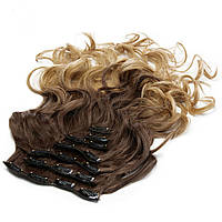 Накладные волосы на заколках термо Набор тресс 7 шт № 8т25K
