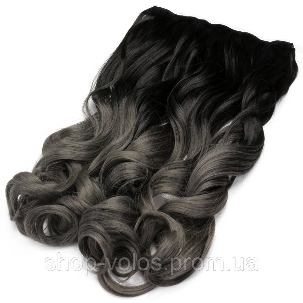 Накладные волосы на заколках термо Тресса № 1тDarkGreyK