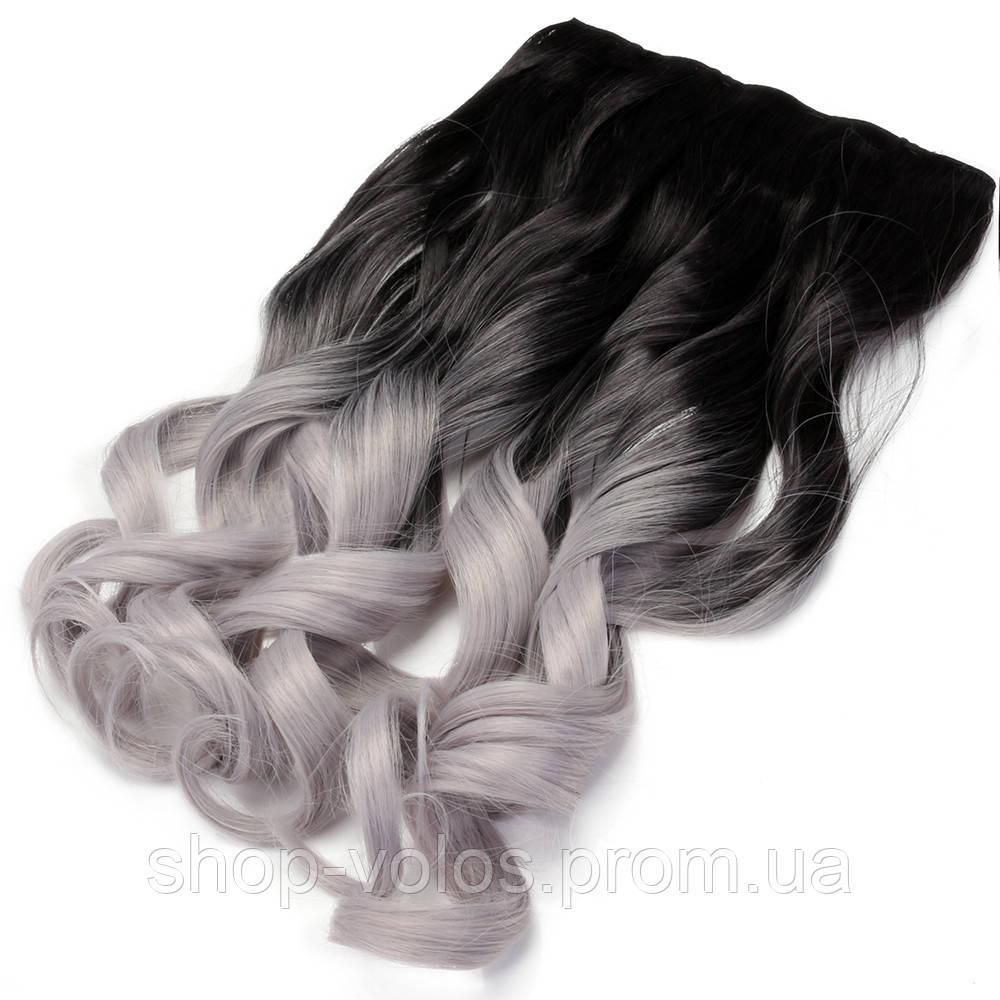 Накладные волосы на заколках термо Тресса № 1тSilverGreyK