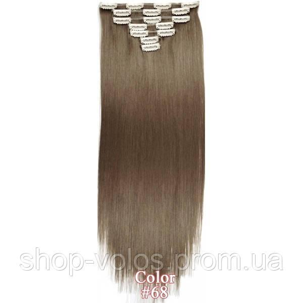 Накладные волосы на заколках термо  набор тресс 7 шт № 68 пепельно-русый