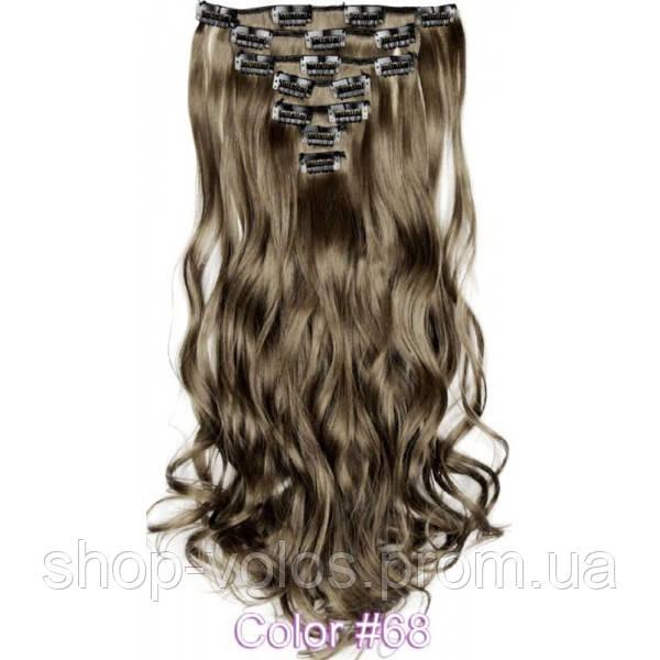 Накладные волосы на заколках термо  набор тресс 7 шт № 68k пепельно-русый