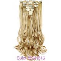 Накладные волосы на заколках термо  Набор тресс 7 шт № 25H613k светло-пшеничный