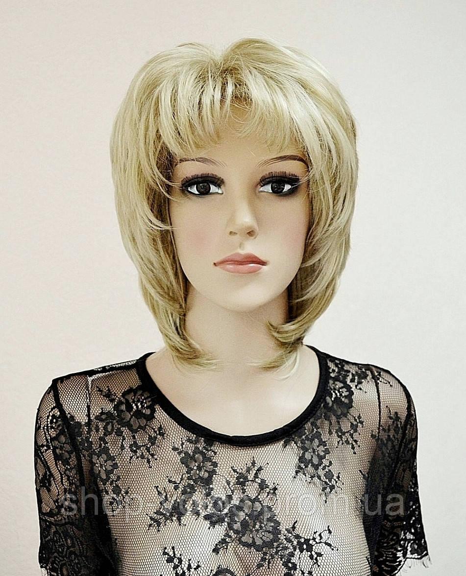 Парик № 81010-16H613 короткий, цвет: мелированный блонд