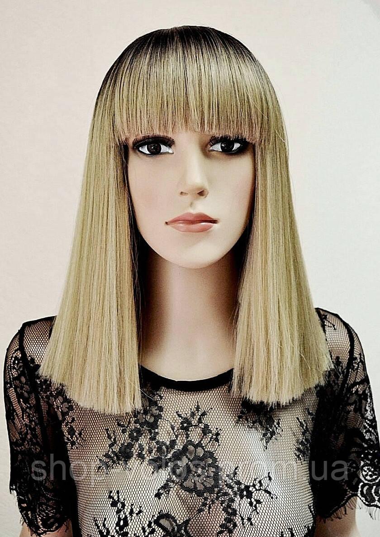 Парик AVRIL № 4-16-613 Каре омбре, цвет: блонд, длина 36 см