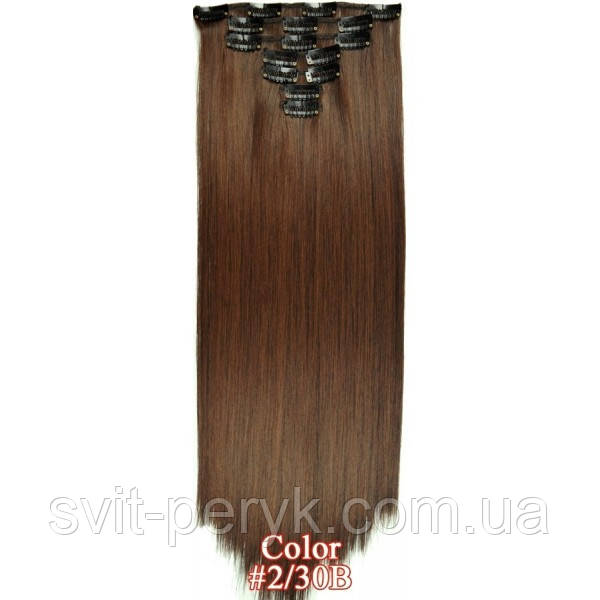 Набор тресс 7 шт № 2-30 коричнево-золотистый