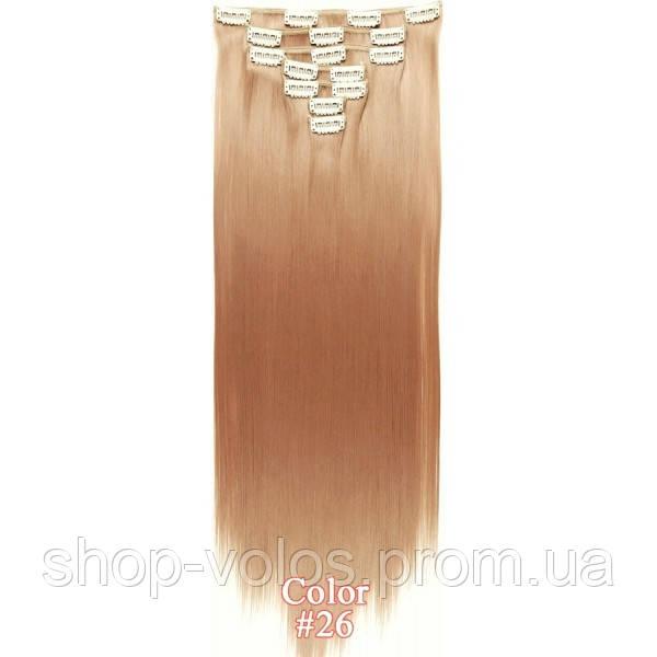Набор тресс 7 шт № 26 пшенично-розовый