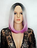 Парик Eva silver/purple