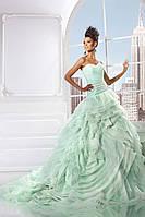 Свадебное платье «Шопот розы» ментол