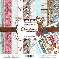 Набор бумаги для скрапбукинга Christmas fairytales, 20х20 см, 10 листов