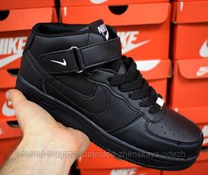 Высокие кроссовки мужские черные и белые Nike air force