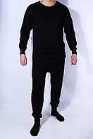 Термобелье мужское на флисе черное 11335