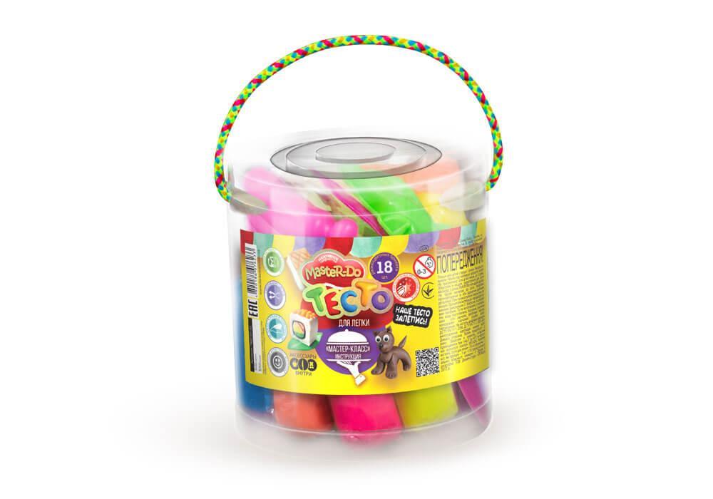 Тесто для лепки MASTER-DO 18 цветов Danko Toys (TMD-01-02)
