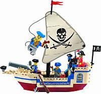 Конструктор для мальчика Пиратский корабль Brick 304 деталей 188