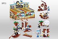 Конструктор для мальчика Пираты Война 8 шт 4 вида