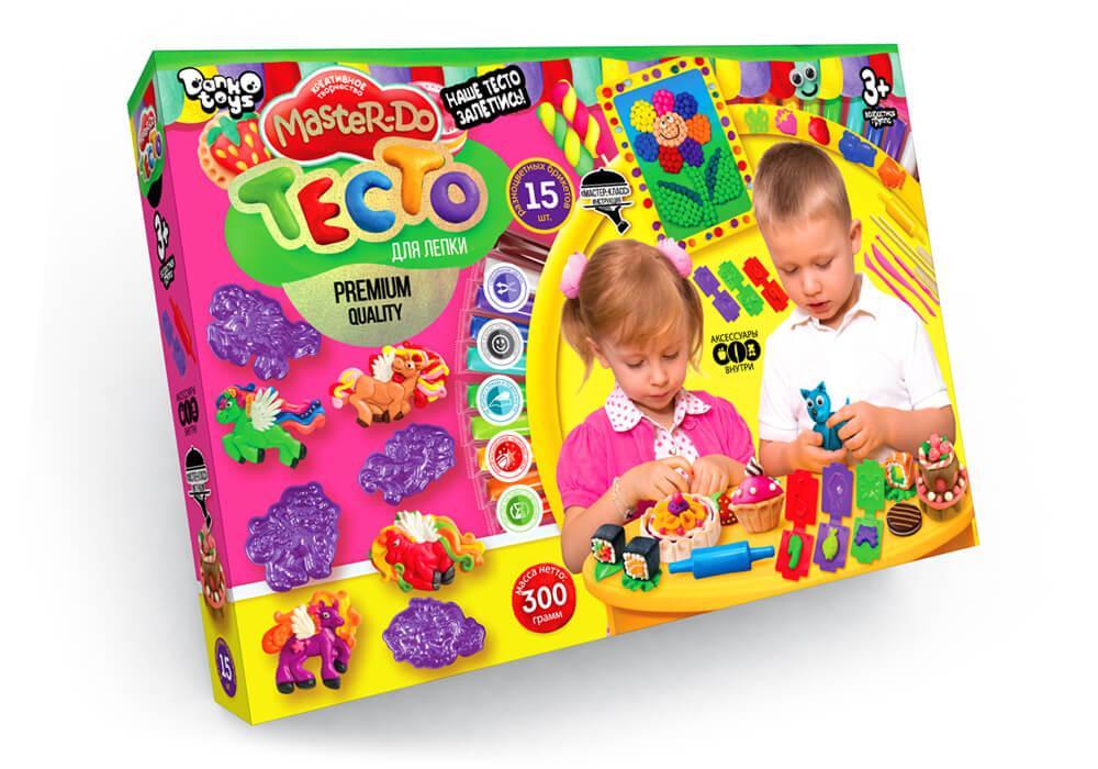 Тесто для лепки MASTER-DO 15 цветов Danko Toys (TMD-03-01)