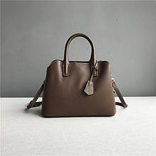 Вместительная сумка 3 отделение внутри / натуральная кожа арт. кт-941 Коричневый