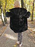 Черная норковая шуба с капюшоном, фото 5