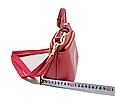 Сумка с тремя отделами на молнии с ручкой и ремешокм / натуральная кожа арт. кт-841 Красный, фото 4