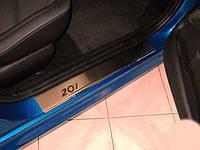 Накладки на пороги Peugeot 207 5D (2006+)