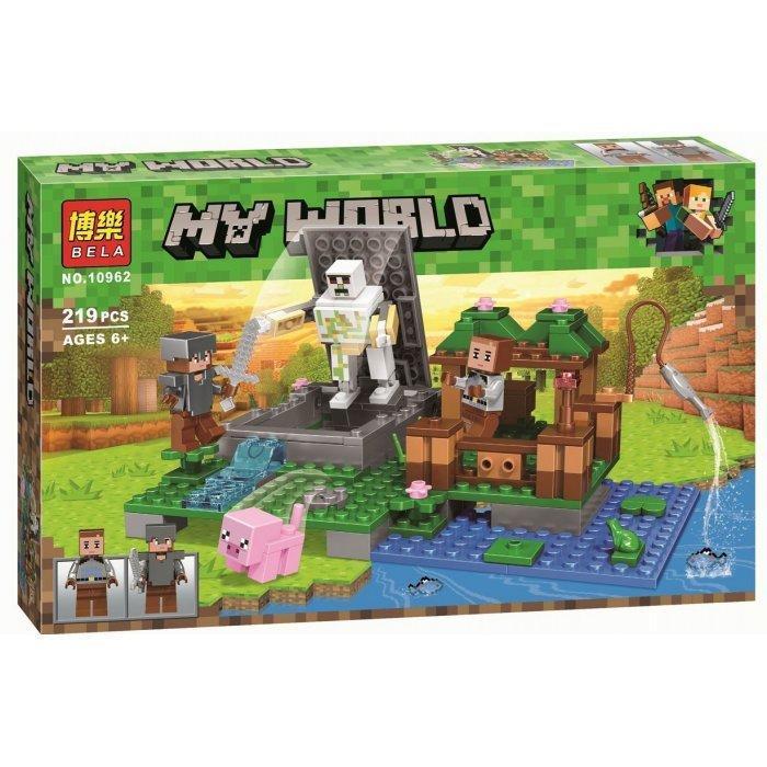 Конструктор Bela Майнкрафт Скелет на ферме 10962  219 деталей Аналог LEGO Minecraft