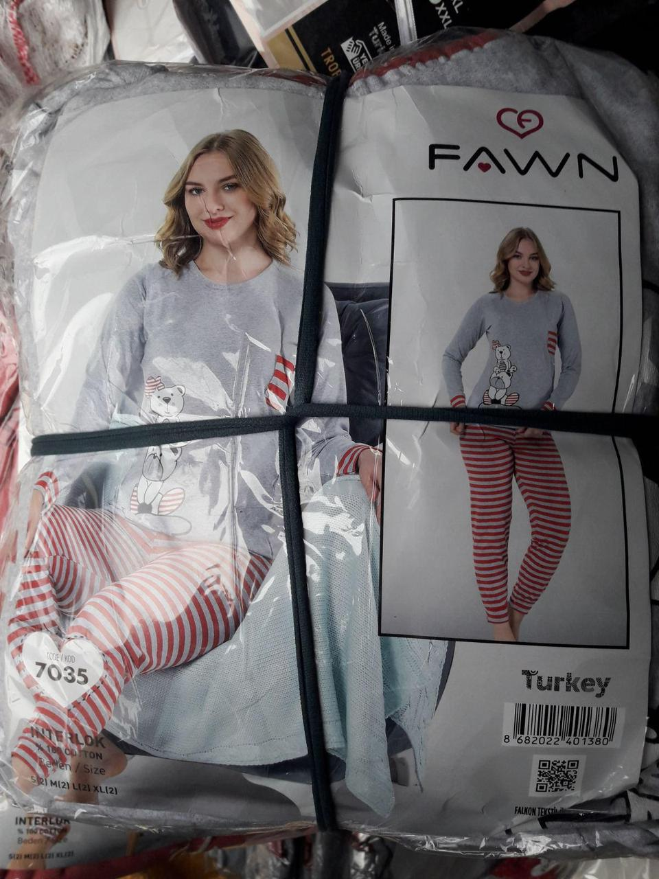 "Женская пижама ""FAWN"" №7035 интерлок"