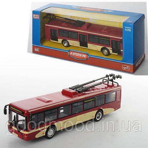 Троллейбус 6407C мет., інерц., гумові колеса, кор., 20-8-6 см