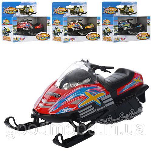 Машинка KS5103W мет., інерц., снігокат, гумові колеса, 4 кольори, кор., 15,5-13-7,5 см.