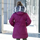 """Зимняя стеганная курточка для девочки+сумочка""""Модница"""", фото 2"""