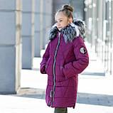 """Зимняя стеганная курточка для девочки+сумочка""""Модница"""", фото 3"""