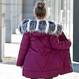 """Зимняя стеганная курточка для девочки+сумочка""""Модница"""", фото 5"""