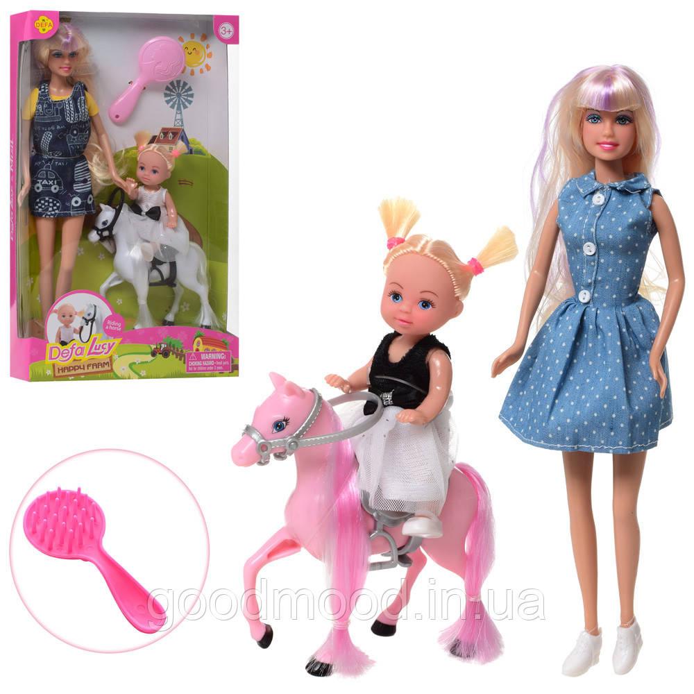 Лялька DEFA 8399-BF дочка, кінь, гребінець, 2 види, кор., 19-31-5,5 см.